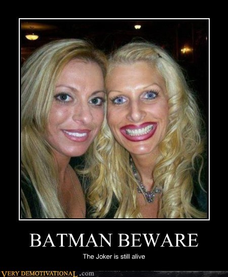batman,beware,eww,Hall of Fame,joker,Terrifying