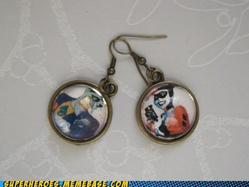 earrings Harley Quinn joker Random Heroics - 5640219392