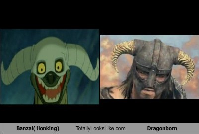banzai,dragonborn,funny,Movie,Skyrim,the lion king,TLL