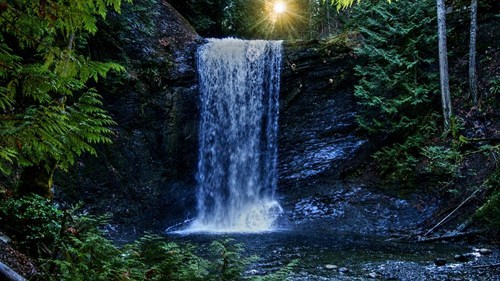 ammonite falls,blue,british columbia,Canada,getaways,Hall of Fame,north america,vivid colors,water,waterfall