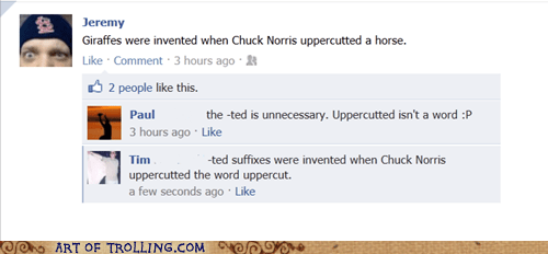 chuck norris facebook grammar spelling - 5641034240