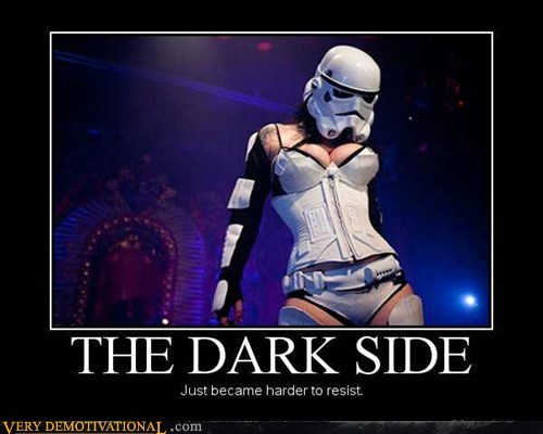 dark side Hall of Fame hilarious Sexy Ladies stormtrooper - 5641300480