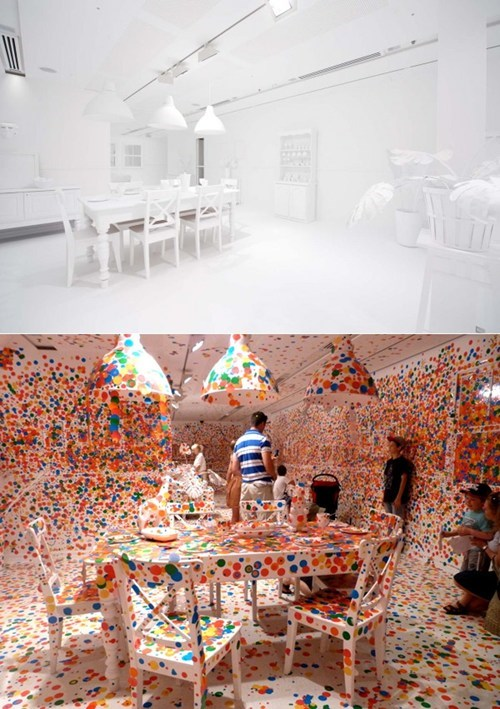 Gallery of Modern Art The Obliteration Room Upgraded Childhood Yayoi Kusama