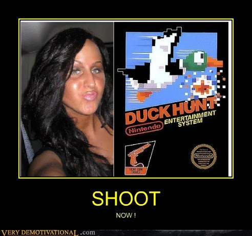 duck face duck hunt hilarious now wtf