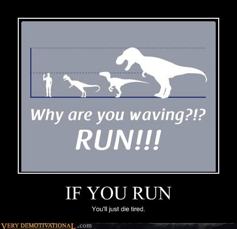 dinosaurs hilarious human run