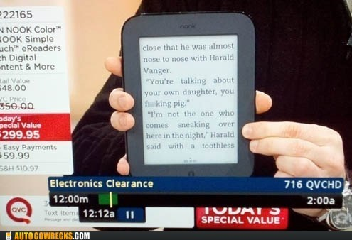 Ad advertisement commercial girl with the dragon tatt nook qvc selling swearing swears tablet TV - 5642424320