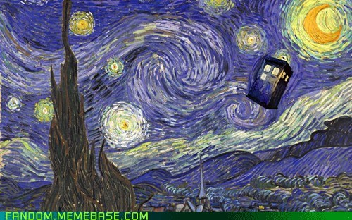 best of week,doctor who,Fan Art,tardis,this episode made me cry,Van Gogh,Whovian