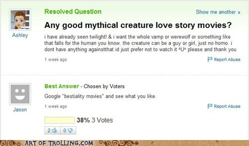 animal love,love story,movies,Yahoo Answer Fails