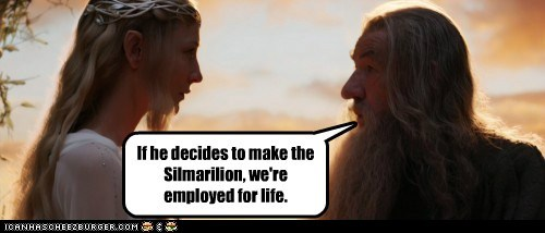 cate blanchett employed galadriel gandalf ian mckellan life Lord of the Rings peter jackson the simarilion - 5643252224