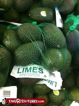 avocado,dirty liar,limes