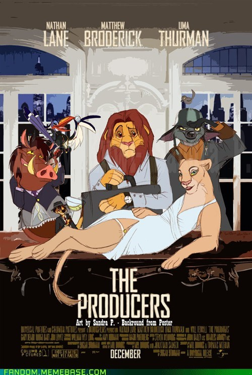 crossover,Fan Art,the lion king,the producers