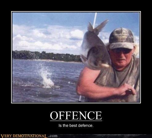 defense fish fisherman hilarious offense