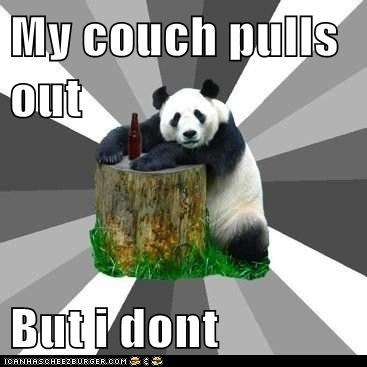 couches flirting innuendo naughty panda bears panda Pickup Line Panda pickup lines sex - 5644550656