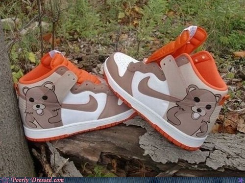 nike pedo shoes pedobear shoes - 5644722432