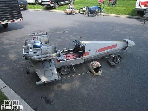 design DIY nerdgasm soapbox derby star wars x wing - 5645382912