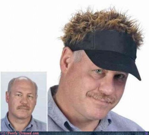 baldness hair sold separately solution visors - 5645393408