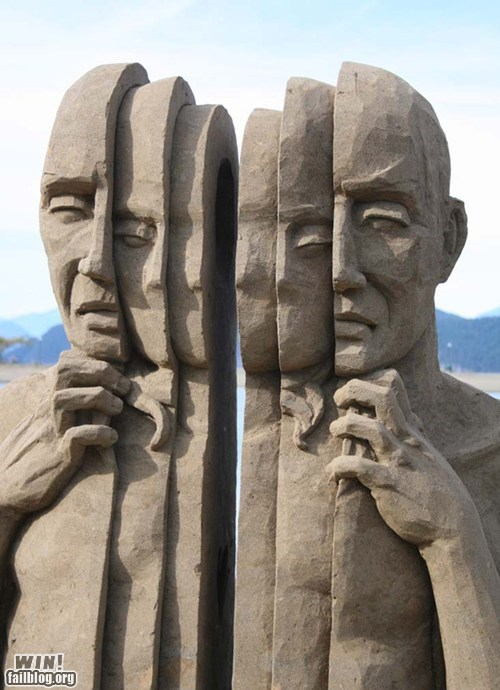 art,beach,g rated,sand,sand sculpture,sculpture,trippy,weird,win
