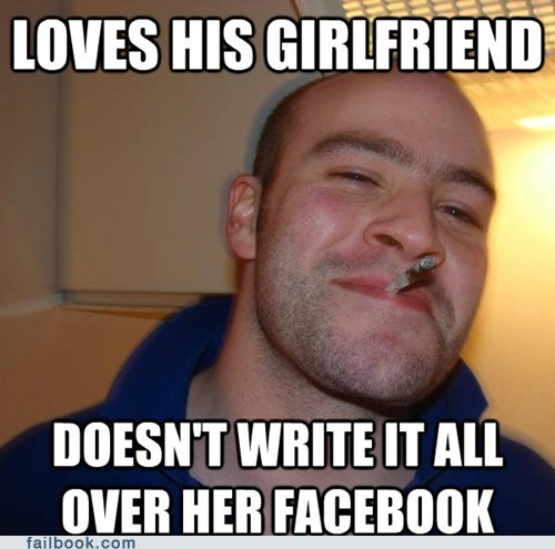 facebook Good Guy Greg PDA relationship win