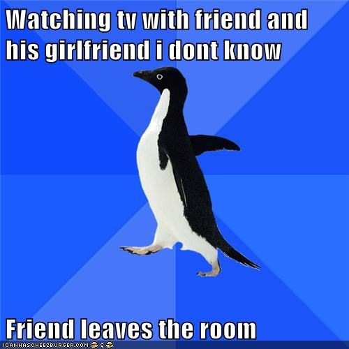 bad idea friend girlfriend sexy times socially awkward penguin - 5645545216