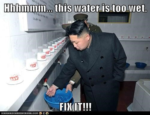 kim jong-un korea North Korea north korea best korea political politics Pundit Kitchen water