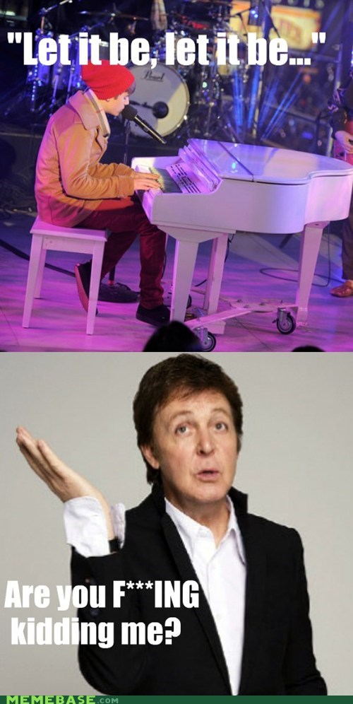 beatles justin bieber let it be Memes