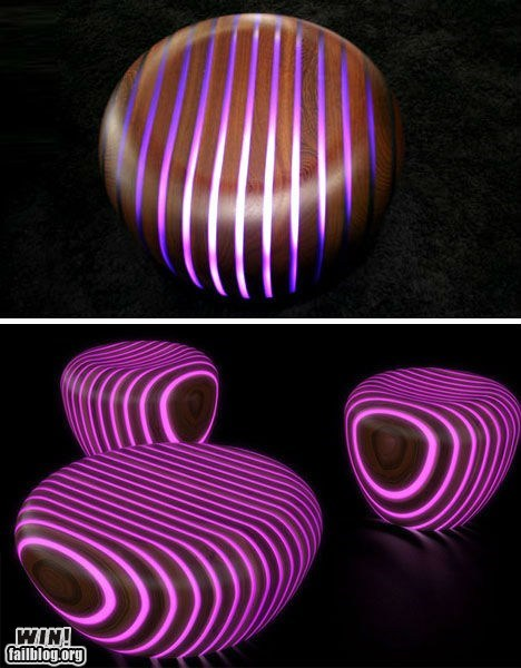 All the Colors of the Rainbow chair design glow in the dark neon pretty colors - 5645696512