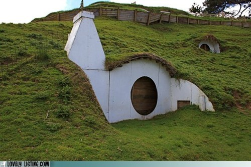 chimney,grass,hill,hobbit,house
