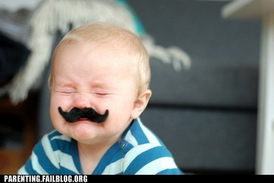 baby fake mustache g rated hipster irony mustache parenting Parenting Fail - 5645755904