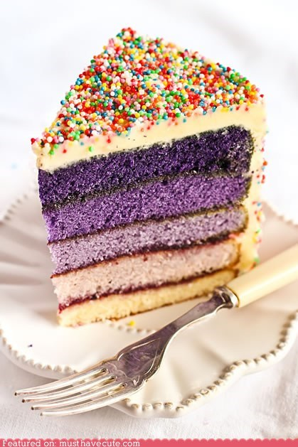 cake,epicute,frosting,ombre,purple,sprinkles