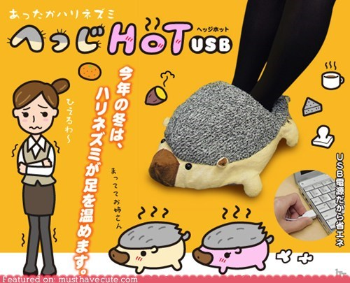 footwarmer heater hedgehog USB warm - 5645823232