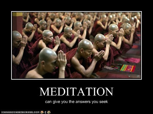 MEDITATION can give you the answers you seek