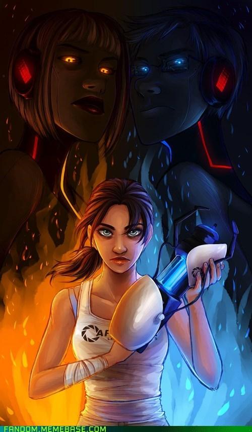 Fan Art gladOS portal 2 video games Wheatley - 5645895680