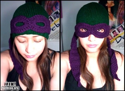 clothing,crochet,fashion,hat,nerdgasm,TMNT