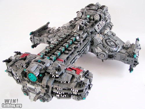 battlecruiser lego model nerdgasm starcraft video games - 5645961216