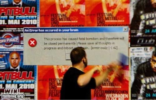 advertisement art clever computer error error graffiti hacked irl Street Art - 5645978880