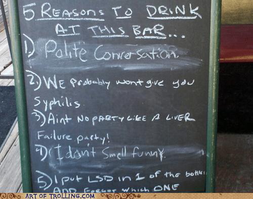 bar drinking IRL sign - 5646067712
