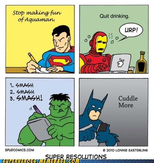 Awesome Art batman best of week hulk hulk superman iron man superheroes superman - 5646206976