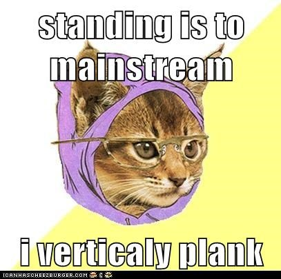 Cats Hipster Kitty hipsters Planking standing vertical - 5646773248