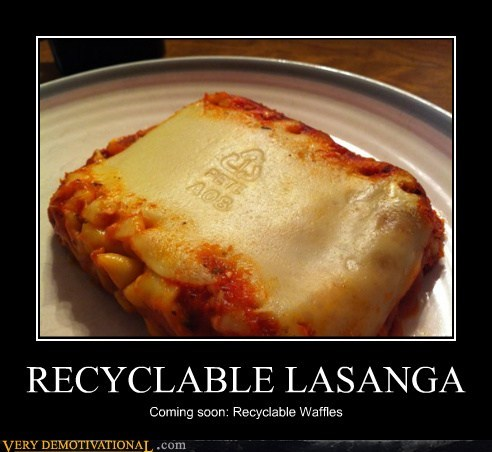 food hilarious lasanga recycle - 5646949632