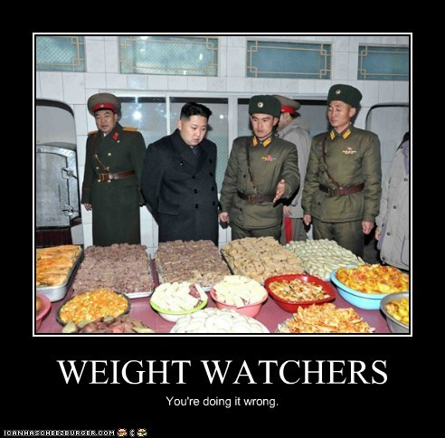 WEIGHT WATCHERS You're doing it wrong.