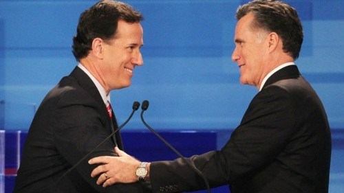 2012 Presidential Race Breaking News Iowa Caucuses Mitt Romney Rick Santorum - 5647740672