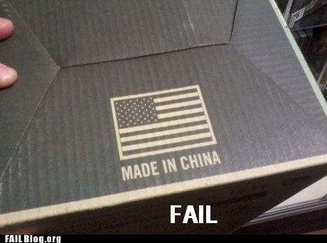 AMERRICA China fail nation geography g rated product fail