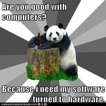 computers flirting gross hardware innuendo panda Pickup Line Panda pickup lines software technology - 5648086016