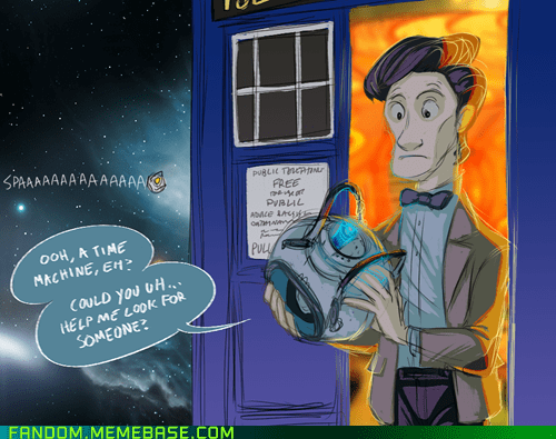 best of week,crossover,doctor who,Fan Art,portal 2,Wheatley