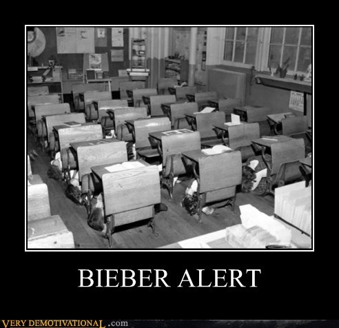 alert Bieber empty hilarious school