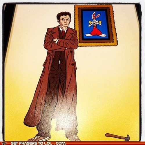 David Tennant,doctor who,puns,Roger Rabbit,the doctor,who framed roger rabbit
