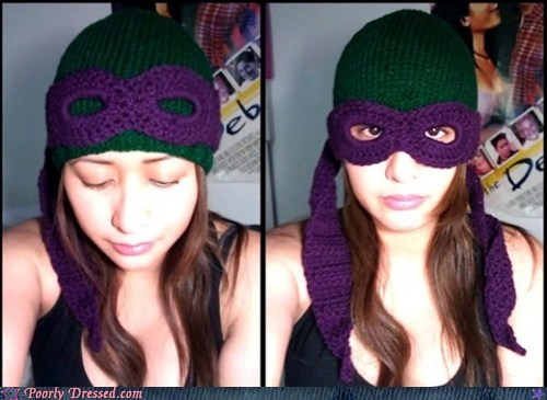 beanie clever g rated Hall of Fame head poorly dressed teenage mutant ninja turtles