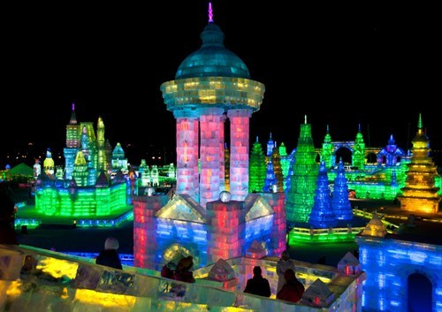 awesome,China,getaways,sculpture,snow and ice festival,vivid colors