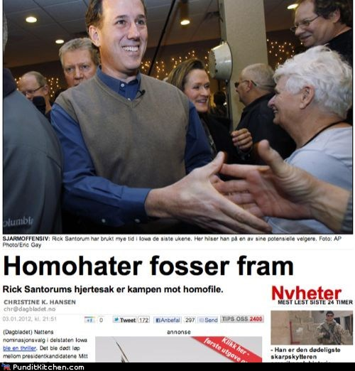 election 2012 gay rights homophobia iowa caucus Norway Republicans Rick Santorum - 5649483776