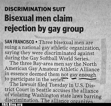 discrimination,irony,no homo,Probably bad News
